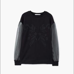Mango sheer sleeved sweater